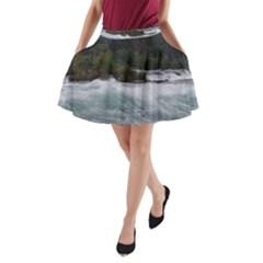 Sightseeing At Niagara Falls A Line Pocket Skirt