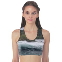 Sightseeing At Niagara Falls Sports Bra