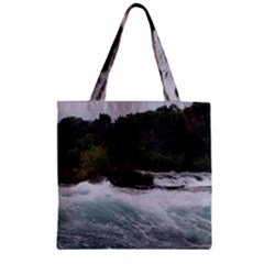 Sightseeing At Niagara Falls Zipper Grocery Tote Bag