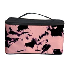 Old Rose Black Abstract Military Camouflage Cosmetic Storage Case