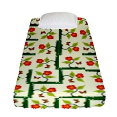 Plants And Flowers Fitted Sheet (single Size)