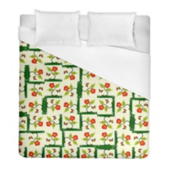 Plants And Flowers Duvet Cover (full/ Double Size)