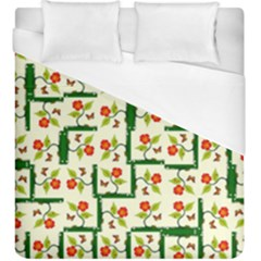 Plants And Flowers Duvet Cover (king Size)