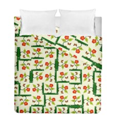 Plants And Flowers Duvet Cover Double Side (full/ Double Size)