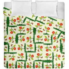 Plants And Flowers Duvet Cover Double Side (king Size)