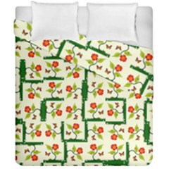 Plants And Flowers Duvet Cover Double Side (california King Size)