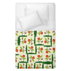 Plants And Flowers Duvet Cover (single Size)