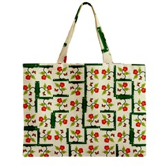 Plants And Flowers Zipper Medium Tote Bag