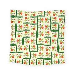 Plants And Flowers Square Tapestry (small)
