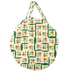 Plants And Flowers Giant Round Zipper Tote