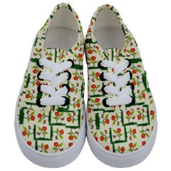 Plants And Flowers Kids  Classic Low Top Sneakers