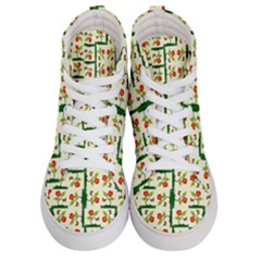 Plants And Flowers Women s Hi Top Skate Sneakers