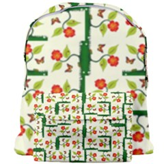 Plants And Flowers Giant Full Print Backpack