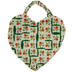 Plants And Flowers Giant Heart Shaped Tote