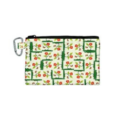 Plants And Flowers Canvas Cosmetic Bag (small)