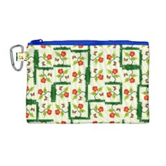 Plants And Flowers Canvas Cosmetic Bag (large)