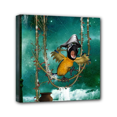 Funny Pirate Parrot With Hat Canvas Travel Bag