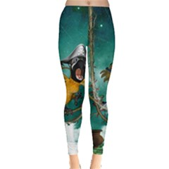 Funny Pirate Parrot With Hat Leggings