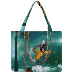 Funny Pirate Parrot With Hat Mini Tote Bag