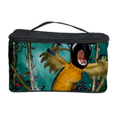 Funny Pirate Parrot With Hat Cosmetic Storage Case
