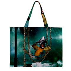 Funny Pirate Parrot With Hat Zipper Mini Tote Bag