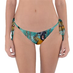 Funny Pirate Parrot With Hat Reversible Bikini Bottom