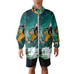 Funny Pirate Parrot With Hat Wind Breaker (kids)