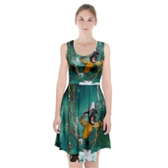 Funny Pirate Parrot With Hat Racerback Midi Dress