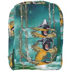 Funny Pirate Parrot With Hat Full Print Backpack