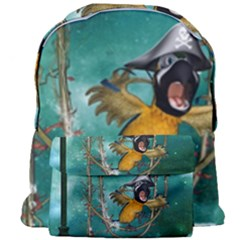 Funny Pirate Parrot With Hat Giant Full Print Backpack