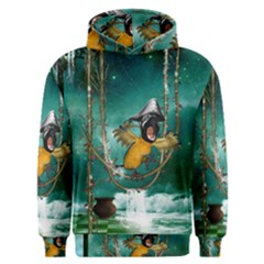 Funny Pirate Parrot With Hat Men s Overhead Hoodie