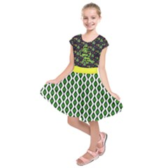 Neon Green 17 March St  Patrick s Kids  Short Sleeve Dress