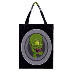 Zombie Pictured Illustration Classic Tote Bag