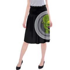 Zombie Pictured Illustration Midi Beach Skirt