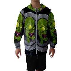 Zombie Pictured Illustration Hooded Wind Breaker (kids)