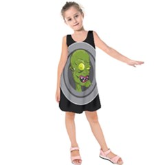 Zombie Pictured Illustration Kids  Sleeveless Dress