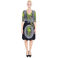 Zombie Pictured Illustration Wrap Up Cocktail Dress