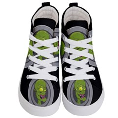 Zombie Pictured Illustration Kid s Hi Top Skate Sneakers