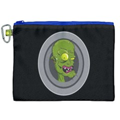 Zombie Pictured Illustration Canvas Cosmetic Bag (xxl)