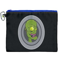 Zombie Pictured Illustration Canvas Cosmetic Bag (xxxl)