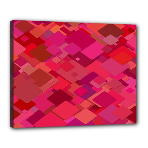 Red Background Pattern Square Canvas 20  X 16