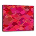 Red Background Pattern Square Canvas 20  x 16  View1