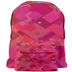 Red Background Pattern Square Giant Full Print Backpack