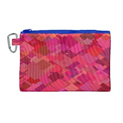 Red Background Pattern Square Canvas Cosmetic Bag (large)