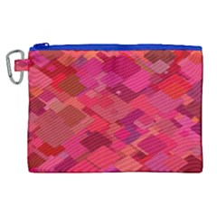 Red Background Pattern Square Canvas Cosmetic Bag (xl)