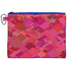 Red Background Pattern Square Canvas Cosmetic Bag (xxl)
