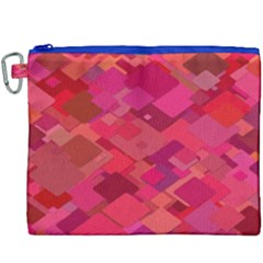 Red Background Pattern Square Canvas Cosmetic Bag (xxxl)
