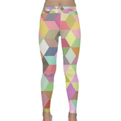 Mosaic Background Cube Pattern Classic Yoga Leggings