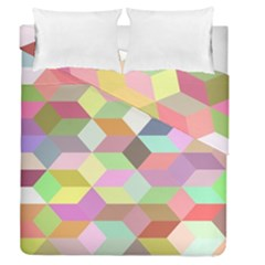 Mosaic Background Cube Pattern Duvet Cover Double Side (queen Size)