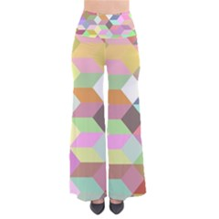 Mosaic Background Cube Pattern Pants